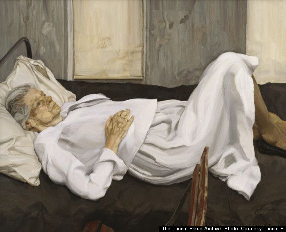 Lucian Freud - The Painter's Mother Resting -1976 Private Collection, Ireland.