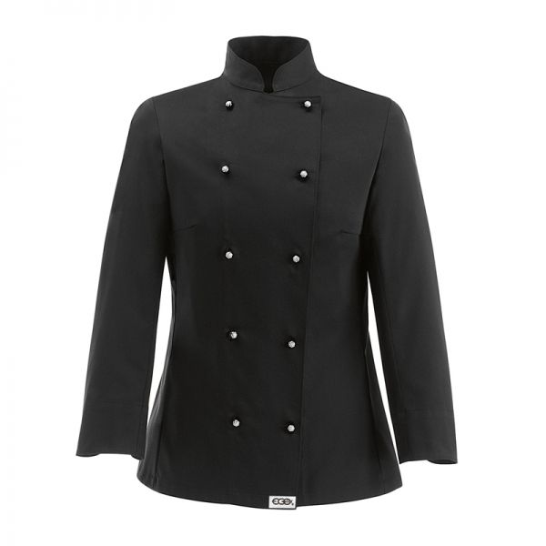 Black Woman Chaqueta de mujer. 65% polyester - 35% algodón. Color negro. Slim Fit. 10 botones. www.chefaporter.com