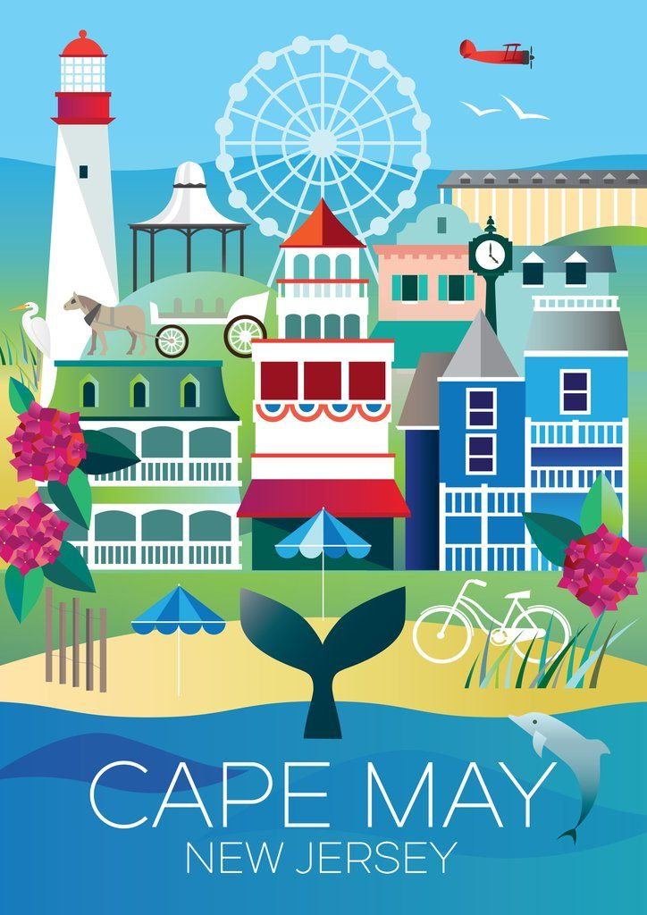 Cape May Tourist Map on