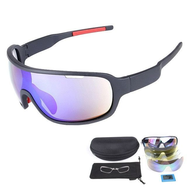 Super COOL Polarized Sport Glasses Ski Goggles for Motorcycle Snowboard Fishing Eyewear Men UV400 Sunglasses Googles Case+4 Lens