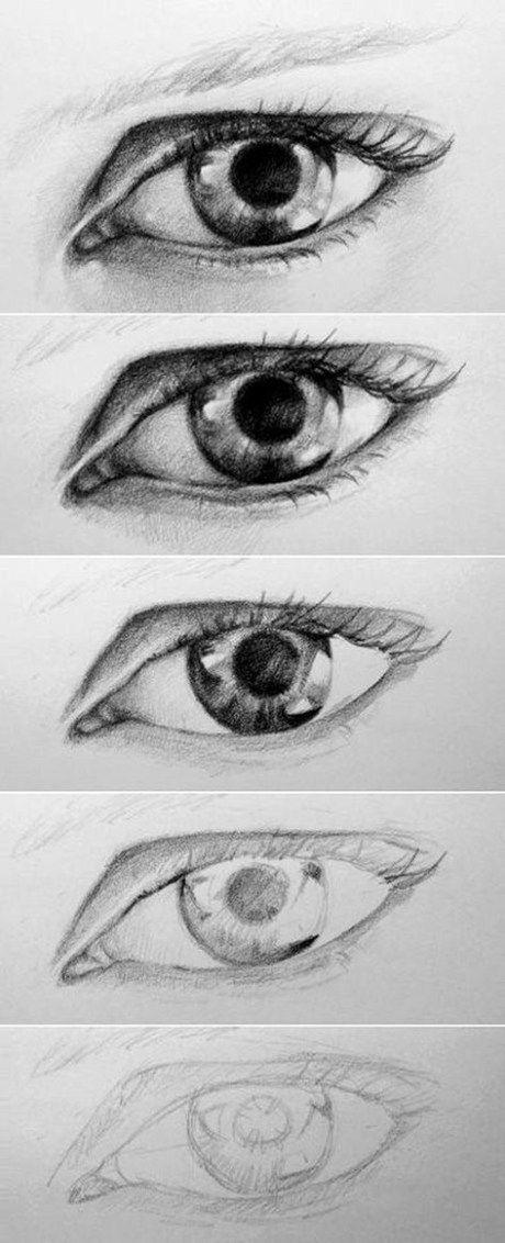 20 erstaunliche Eye Drawing Tutorials & Ideas
