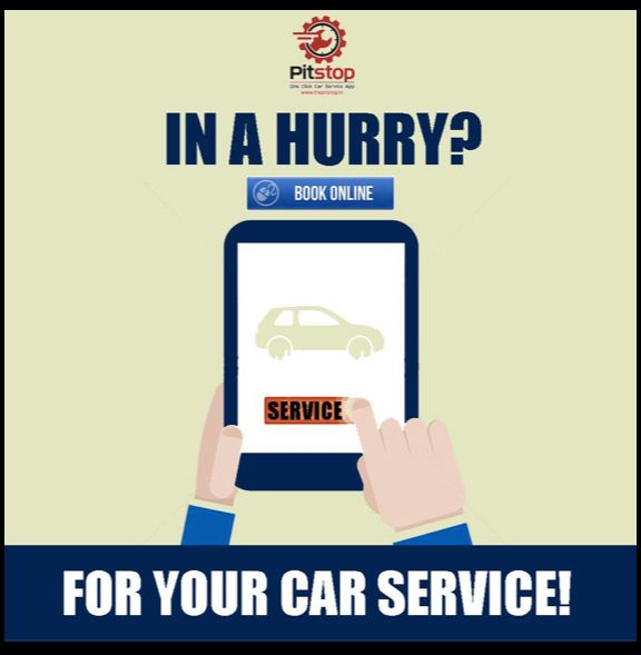 Time crunch?! Join Pit Stop today to Book your car service online! #PitStop #Book #AnytimeAnywhere #Cars #DoorStep #Service #Convenience