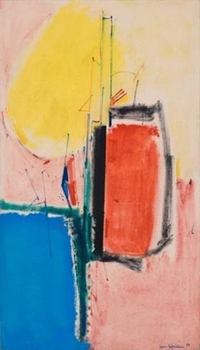 Hans Hofmann (1880-1966) was een Duits - Amerikaanse schilder , leraar en kunst professor , die in zijn vroege werken synthese van fauvisme en kubisme werd beinvloed. Na emigreren naar de Verenigde Staten richtte hij in New York de kunstacademie op (New York School), die grote invloed op de ontwikkeling van Abstract Expressionisme heeft gehad.