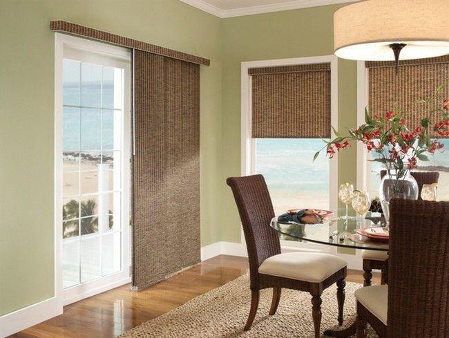 is builtin patio door blinds a good choice drapery room ideas