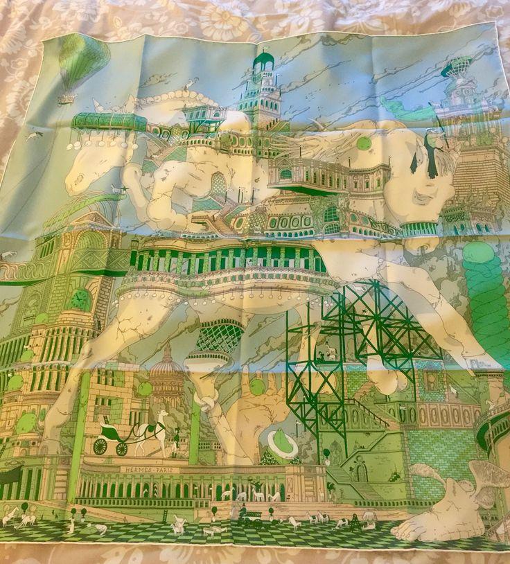 Hermes scarf Hippopolis designed by Ugo Gattoni for Fall/Winter 2015.
