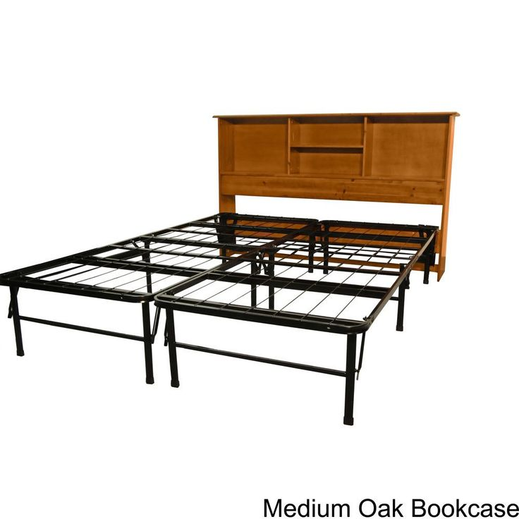 EpicFurnishings Durabed King-size Steel Foundation and Frame-in-One Mattress Support System Bed Frame with All Wood