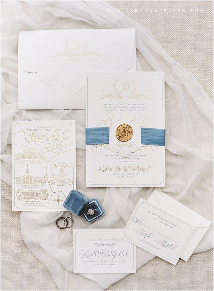 Custom Wedding Invitation Suite by Kara Anne