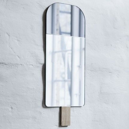 This Ice Cream Mirror is now in the shop. The Ice Lolly has even got a wooden stick. How cool is that? Design By Elements Optimal