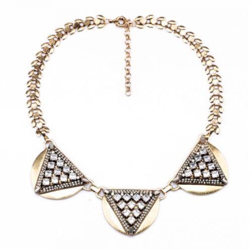 Diva Charms bijuterii de designer, placate cu aur | Colier Sparkling Triangle