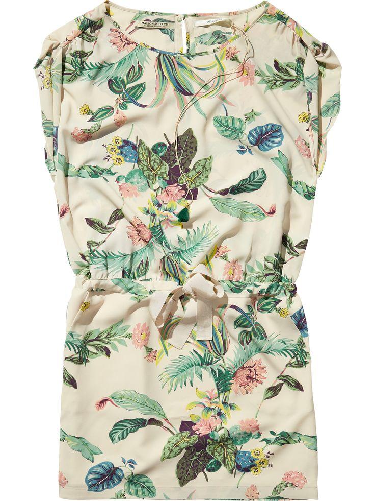Botanical Print Dress Dresses Woman Clothing At Scotch