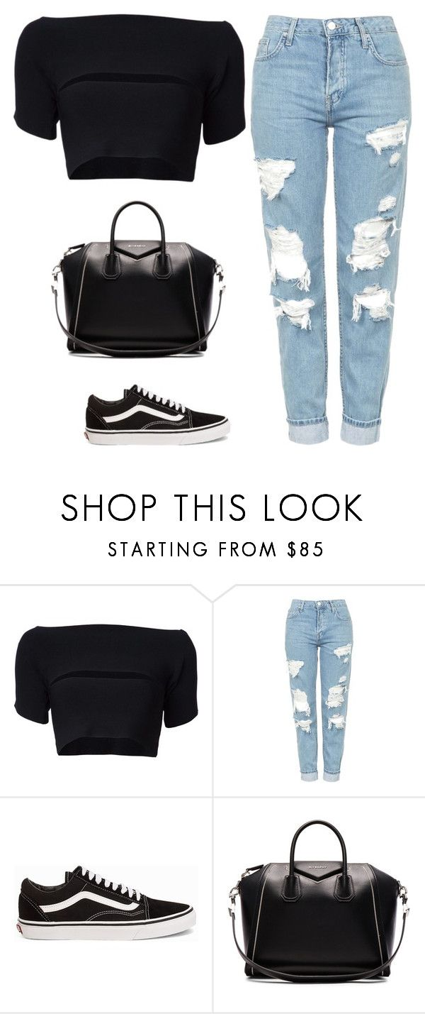 """""""Untitled #505"""" by itgirlcarlota ❤ liked on Polyvore featuring T By Alexander Wang, Topshop, Vans and Givenchy"""