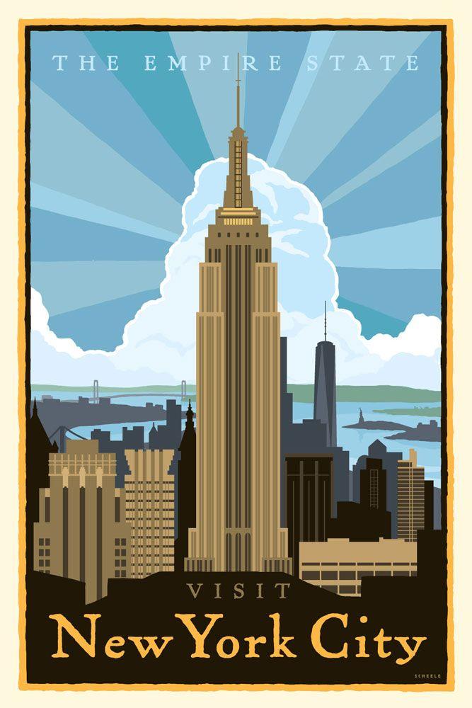 New York City Poster Scheele Open Sky Ideas Visit New York City New York City York City