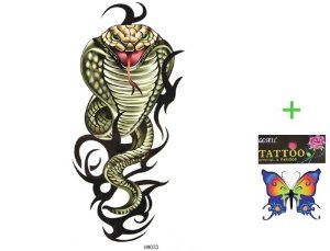 King Horse Cool and hot selling waterproof tattoo sticker Green cobra by King Horse. $2.83. Made and sold by GGSELL--Ship form USA, the only authorized online distributor in the US, GGSELL® Butterfly Temporary Tattoo included. Our temporary tattoos are certified by F.D.A, EN71, ASTM, safe and non-toxic. Use parts: Can be used in the skin, metal pottery, glass and other surfaces. Attached to the waist, chest, neck, arms, back, legs, bikini, paste any position...