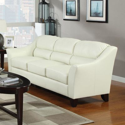 Coaster Brooklyn Casual Contemporary Leather Sofa In Ivory   504131    Lowest Price Online On All Coaster Brooklyn Casual Contemporary Leather Sofa  In Ivory ...