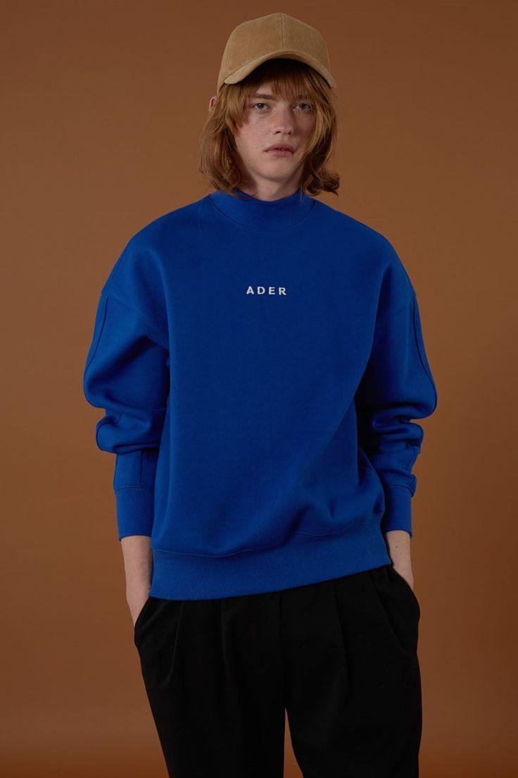 [BLUE] fw15 collection Half turtleneck sweatsihrt #ader#adererror#blue