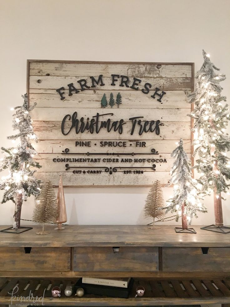 Farm Fresh Christmas Trees Sign                                                                                                                                                                                 More