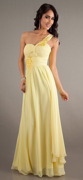 Yellow Military Ball Dresses