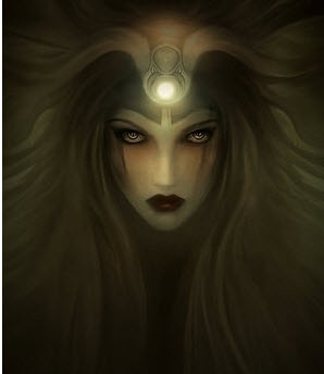 The Moon Goddess  - Hecate, Greek Goddess of the Crossroads. Hecate was the only one of the Titans who Zeus allowed to retain authority after the Olympians had defeated them. She was given the position of being the guardian of the households and the protector of all that was newborn.