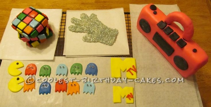 Super Cool 80′s Cake ... This website is the Pinterest of birthday cakes