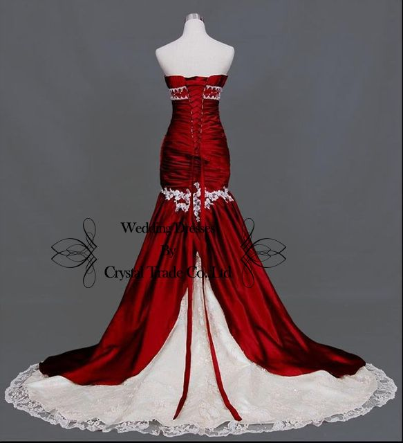 The back of my Red Wedding Dress