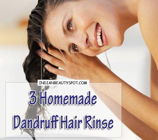 Dandruff cure- Homemade Dandruff Hair Rinse