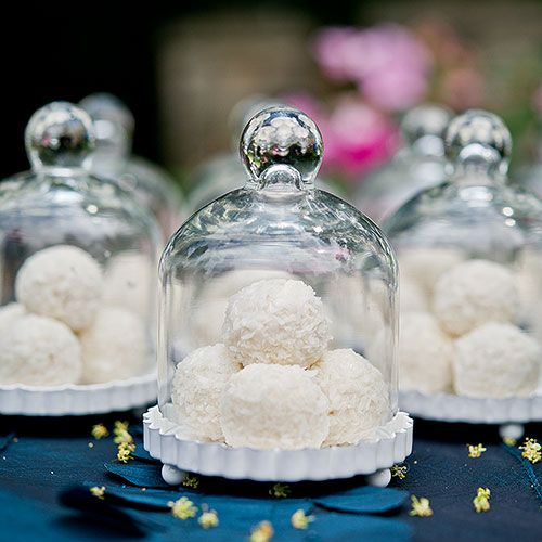 Vintage wedding favors ideas - Miniature Glass Bell Jar Favor With White Fluted Base - The Knot Shop