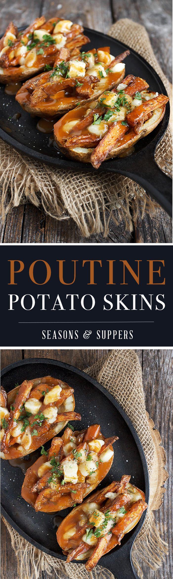 Poutine Potato Skins - great (and easy) football food!