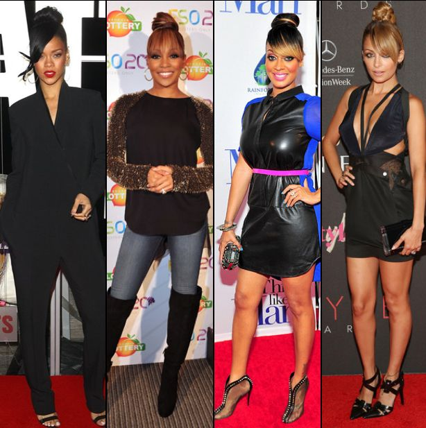 Celebs in buns with a bang... LaLa killed that bun