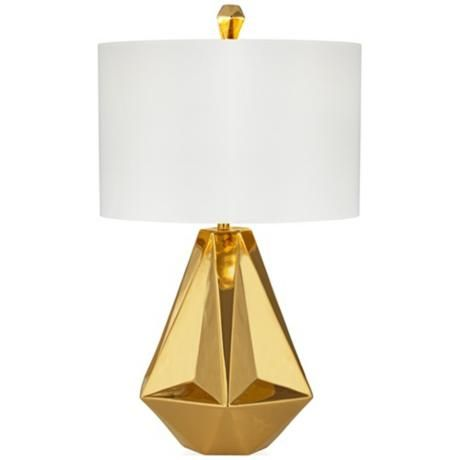 Kathy Ireland Gold Rodeo Drive Table Lamp