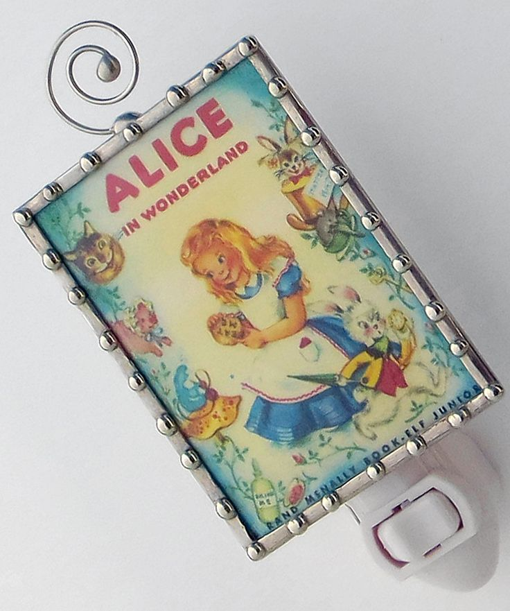 Alice in Wonderland Story Book Night Light