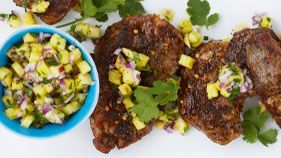 Jerk pork chops with pineapple salsa - Mains Meat | Recipe