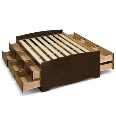 Storage Beds & Headboards good way to use wasted space! i have always loved underbed drawers.