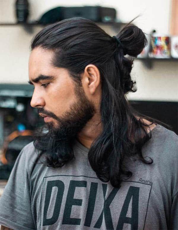 45 Super Cool Men S Samurai Hairstyles 2019 Best Trendy Haircuts Long Hair Styles Long Hair Styles Men Hair Styles