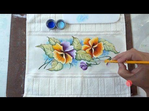 Mulher.com 06/11/2014 - Pintura Ramalhete de Tulipas por Ana Maria Guimarães - Parte 2 - YouTube