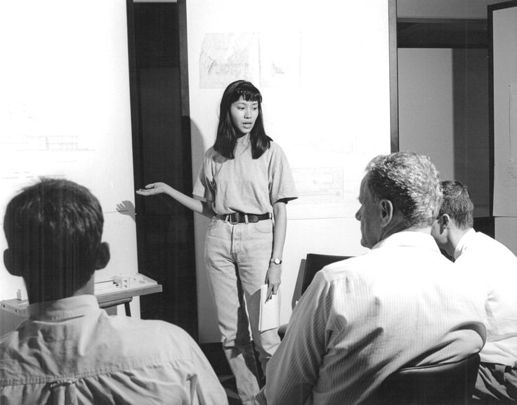 Peter Oppenheim with students, 1991