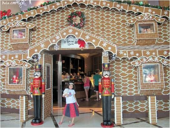 High Production Window Display Gingerbread House