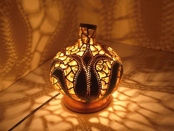 VALENTINE'S DAY gift ideas Gourd lamps gourd art shiny