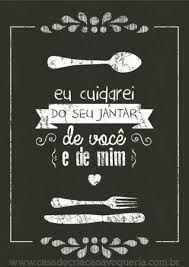 Resultado de imagem para eu cuidarei do seu jantar do céu e do mar e de você e de mim