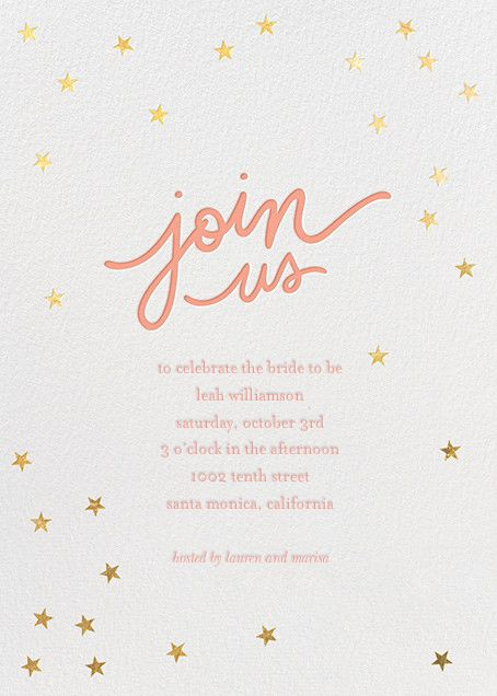221 best bridal shower invitations images on pinterest starry bash by sugar paper for paperless post create beautiful bridal shower invitations with our filmwisefo Image collections