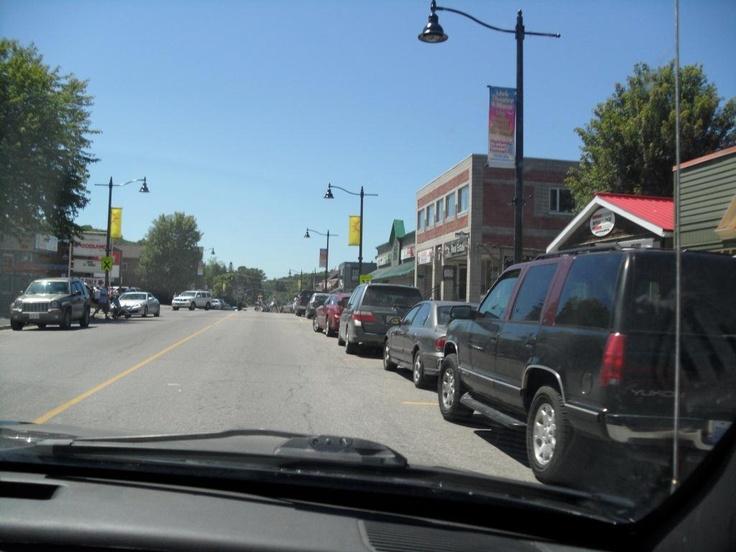 main street Bobcaygeon, Ontario (summer weekend 2012)