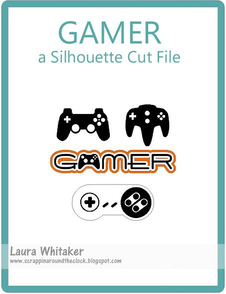 Silhouette Cut File - gamer, video game controllers