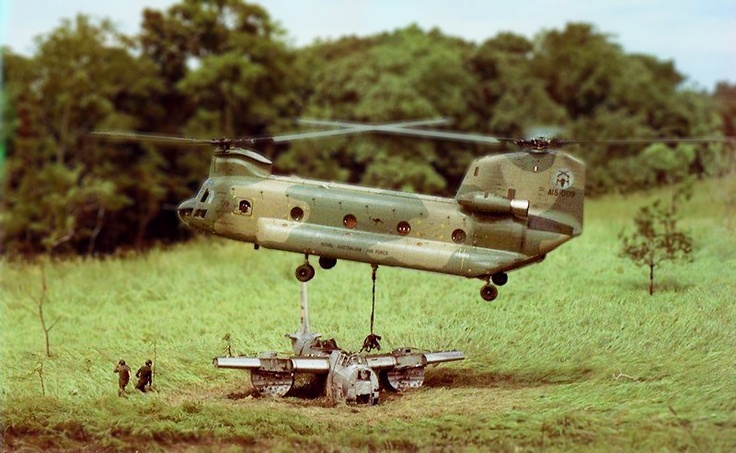Military helicopter.