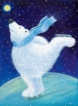 Whimsical Moon - Sweet Pea #Illustration #polarbear