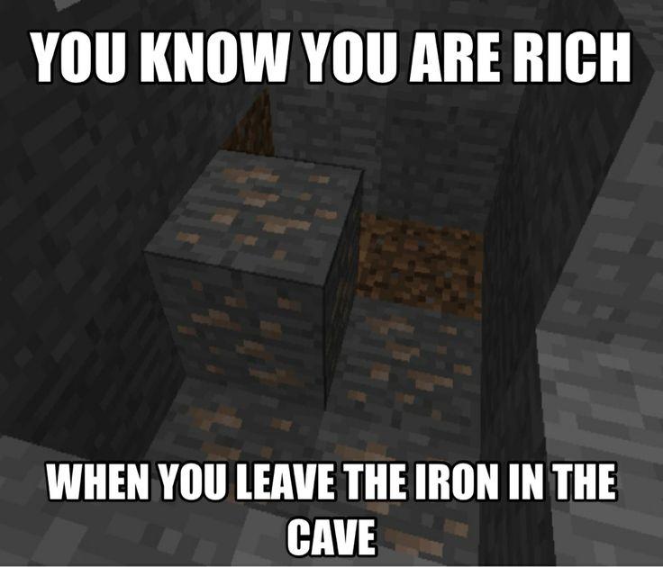 ♡ On Pinterest @ kitkatlovekesha ♡ ♡ Pin: Video Games ~ Minecraft ~ When You Leave Iron ♡