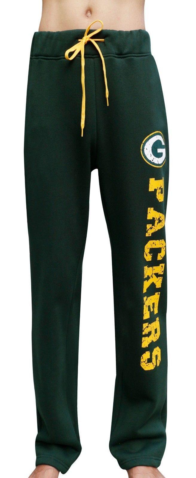 Womens Green Bay Packers Print Sweat Pants Trousers Casual Pants