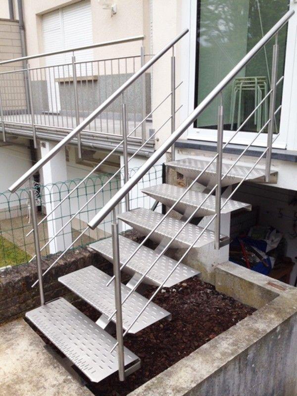 Escalier Exterieur En Inox Marches Inox Escalier Exterieur