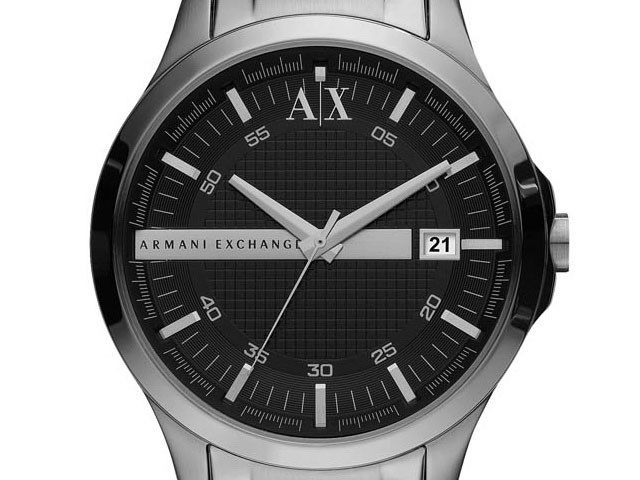 Armani Exchange AX2103 Stainless Steel Black Dial Bracelet Watch - W6221 | F.Hinds Jewellers