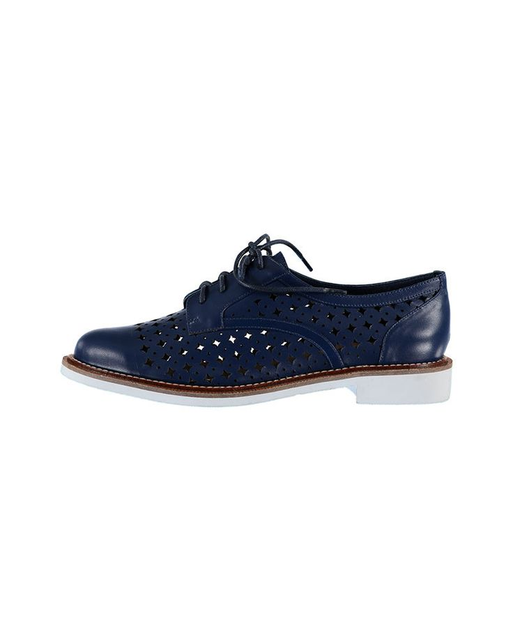 SHOP ONLINE: Diamond Sunday brogues in royal blue by Minx shoes #blueshoes #shoes #brogues #fashion #summershoes #leather #style #minxfootwear #mirrormirrorhanmersprings #nzdesigner