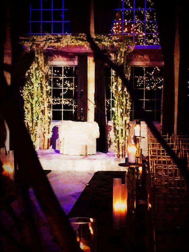 Adam Leffel Productions Ceremony Decor At The Estate At Florentine Gardens Birch Branch Chuppa