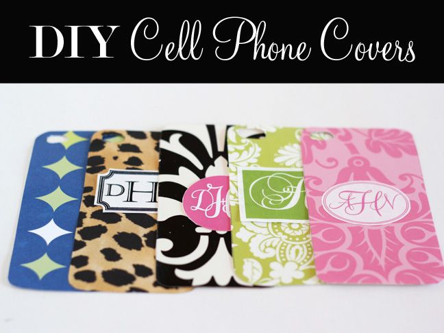 Monogrammed Cell phone covers using scrapbook paper and computer fonts
